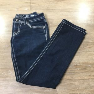 Miss me dark wash straight size 28
